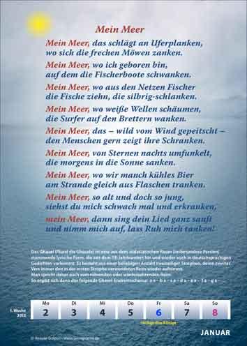Traditionelle Lyrik Mit Versschmuck Und Kalender Als Medium